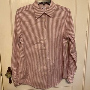 Brooks Brothers women's red white striped shirt 10